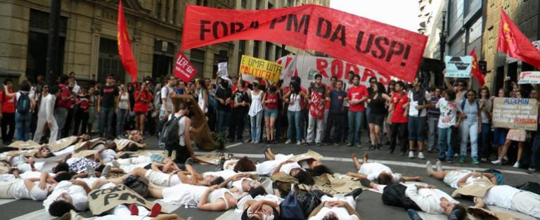 Mobilização dos estudantes na USP